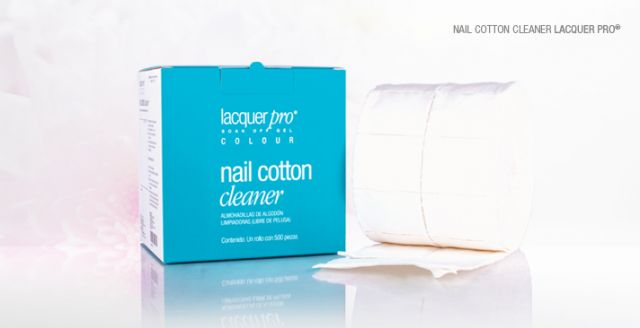 NAIL COTTON CLENER LACQUER ROLLO 500uds